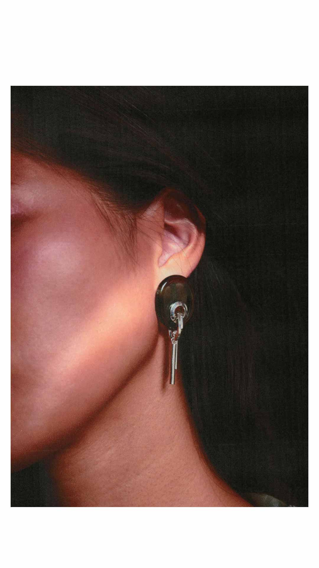 <span class='name'>Smoky Glass Earrings</span> 					<span class='type GT'> </span><br/> 					<span class='GTThin'>S</span><span class='GTReg'>19</span> 					<span class='goToShop GT'><a href='mailto:jewellery@zeldapassini.com'><span class='buy'>Buy</span><span class='now'>order</span></a></span>